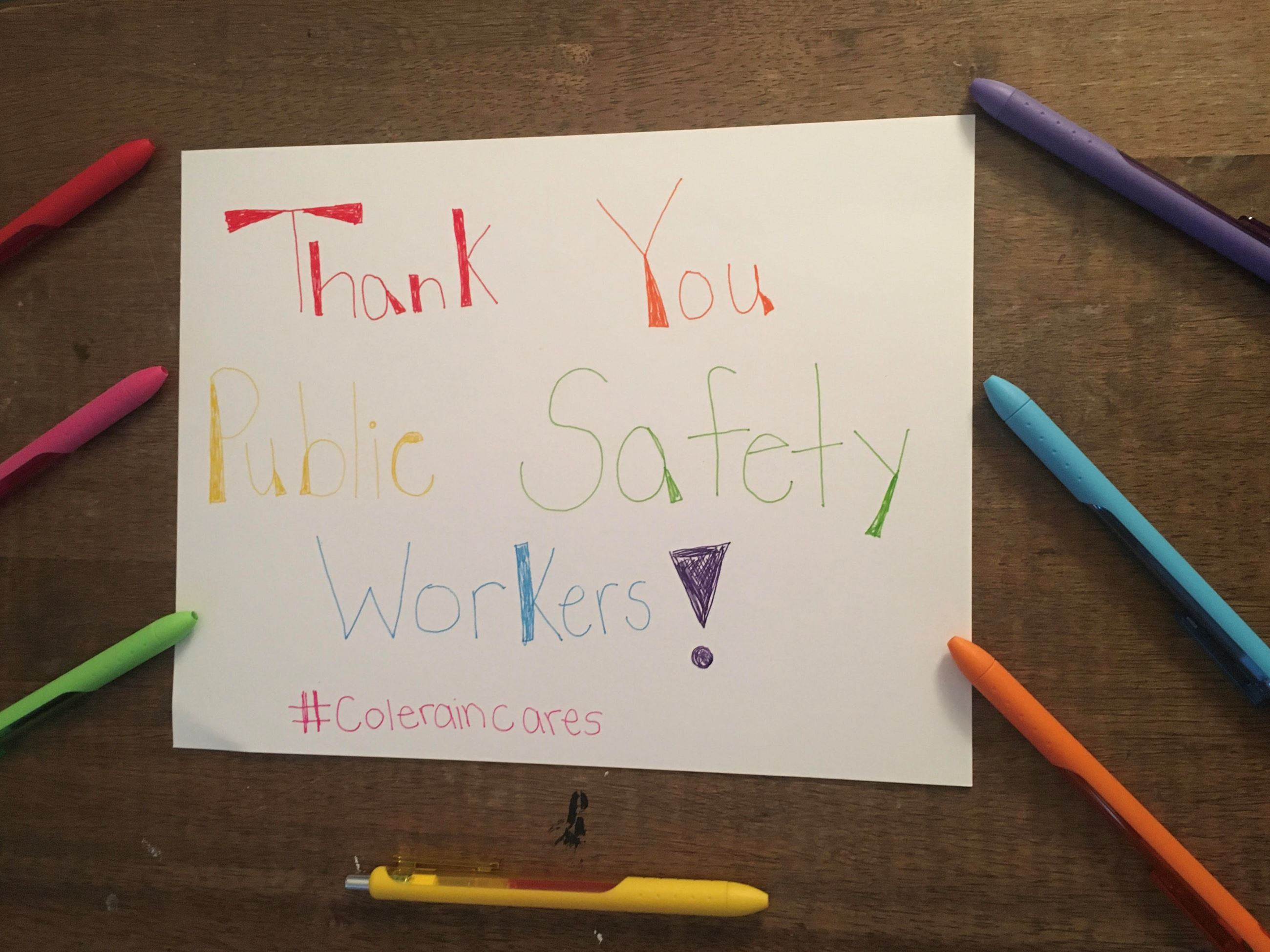 public safety workers thanks